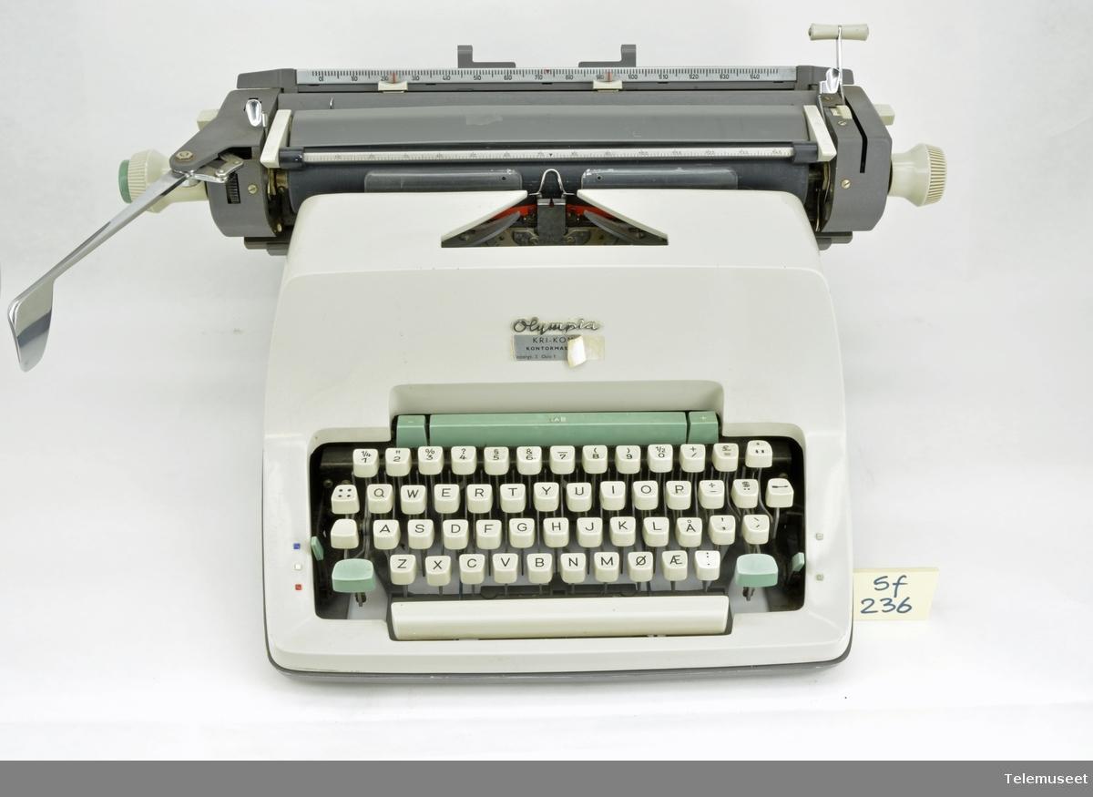 Skrivemaskin Norsk Teknisk Museum DigitaltMuseum