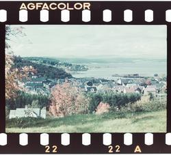 Utstikt over Levanger fra Bruborg.