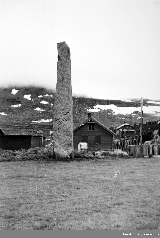 Finse med bautaen over Thorbjørn Lekve