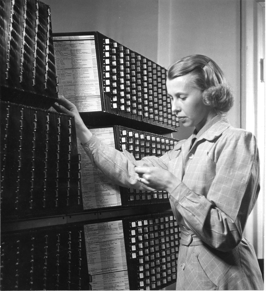 Hålkortsbokföringen fordrar ett särskilt nummerregister.