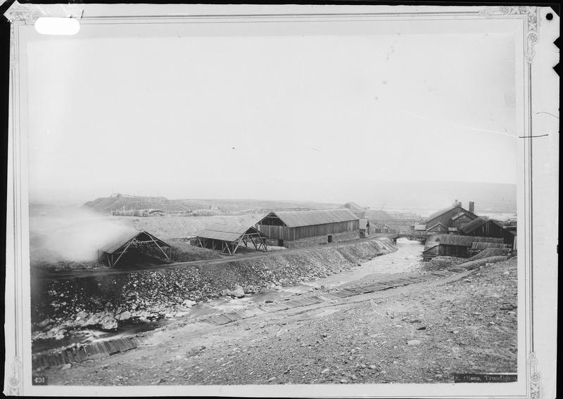 Historisk foto av Hitterelva