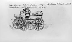 """""""Godsägaren P. Söderhjälms vagn, St Sunna, Uddevalla 1899. T"""