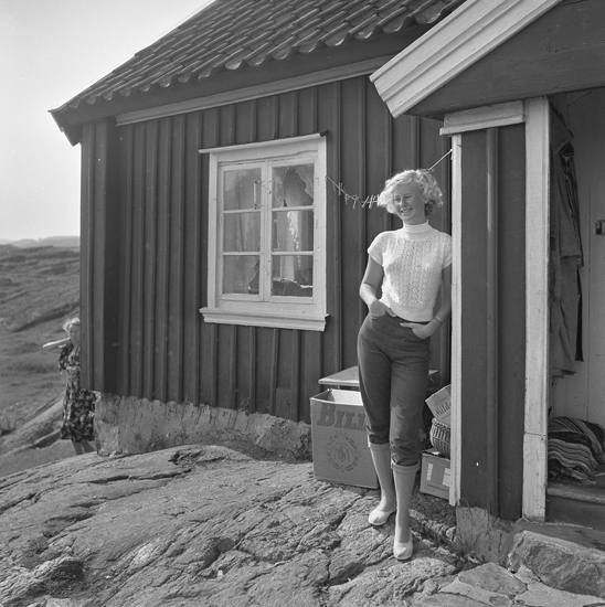 Sommarliv i fritidshuset på ön