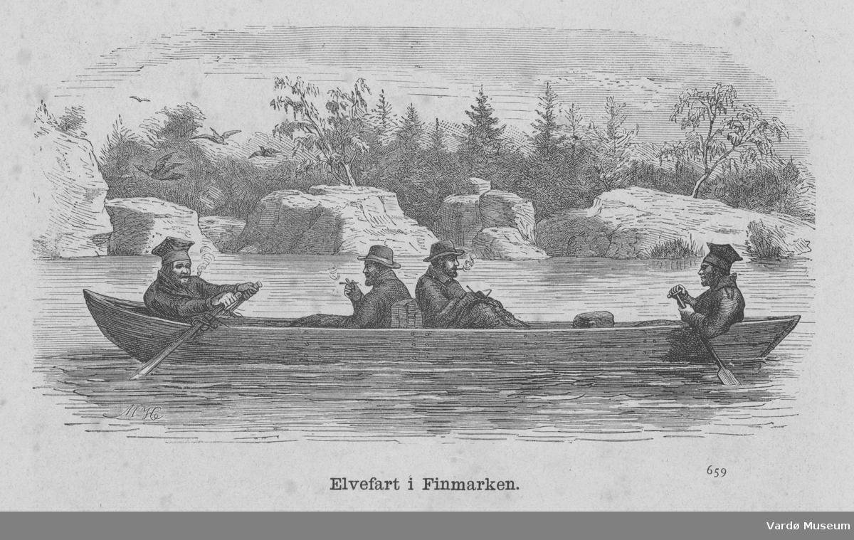 Tresnitt med elvebåttur i Finnmark