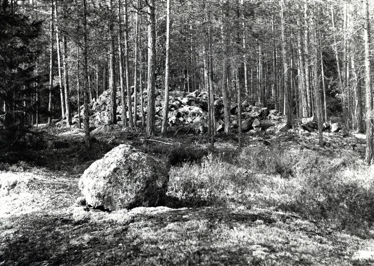 Gravrøys fra bronsealderen ved Faslefossen, Nord-Aurdal.