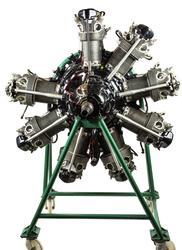 Flygmotor, Nohab Mercury MY XII. Utrustning: Magnet: BTH no L31434, Magnet: BTH Typ SC09 8 no24. Förgasare Lauder Hobsson Typ AVT 85 E. Patent CH 21017. Motorn placerad i motorbock med hjul. till fpl. B 3B.