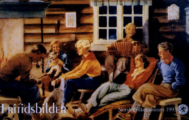 Plakat for utstillingen «Fritidsbilder», 1993. (Foto/Photo)