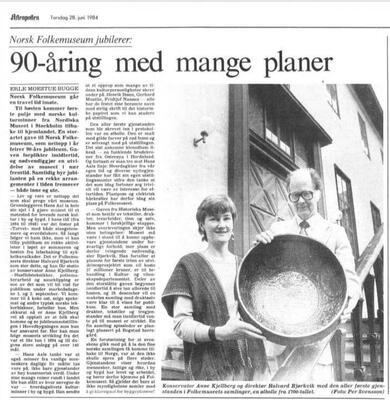 Aftenposten 1984. Foto/Photo