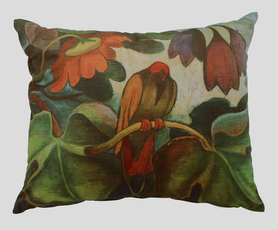 Eksotisk motiv i harmoniske farger. Otto og Tilla lot seg tidlig inspirere av andre kulturer. Putestørrelse 60 x 50 cm. Kr. 775,- (Foto/Photo)