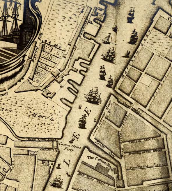 Detalj fra kart over Cork fra 1759, tegnet av John Rocque (Foto/Photo)