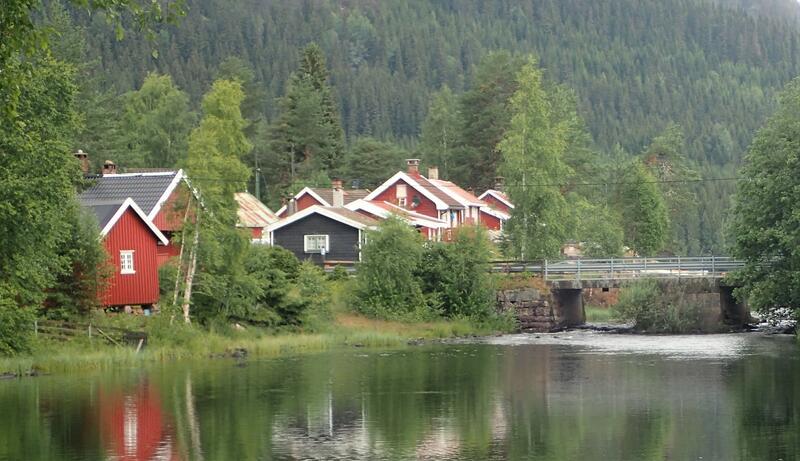 Tømmerhoggerlandsbyen Skjervetråkket i Lunner. Foto: Lars Stålegård (Foto/Photo)