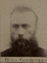 Borhauer Hans Gundersen (1845-1889) Omkom ved fall i Armen gruve (Foto/Photo)