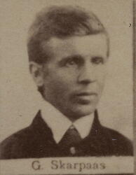 Pukkverksarbeider Karl Gotfred Skarpaas (1851-1933) (Foto/Photo)