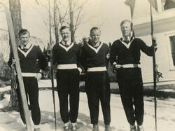 De fire norske hopperne i OL Lake Placid 1932