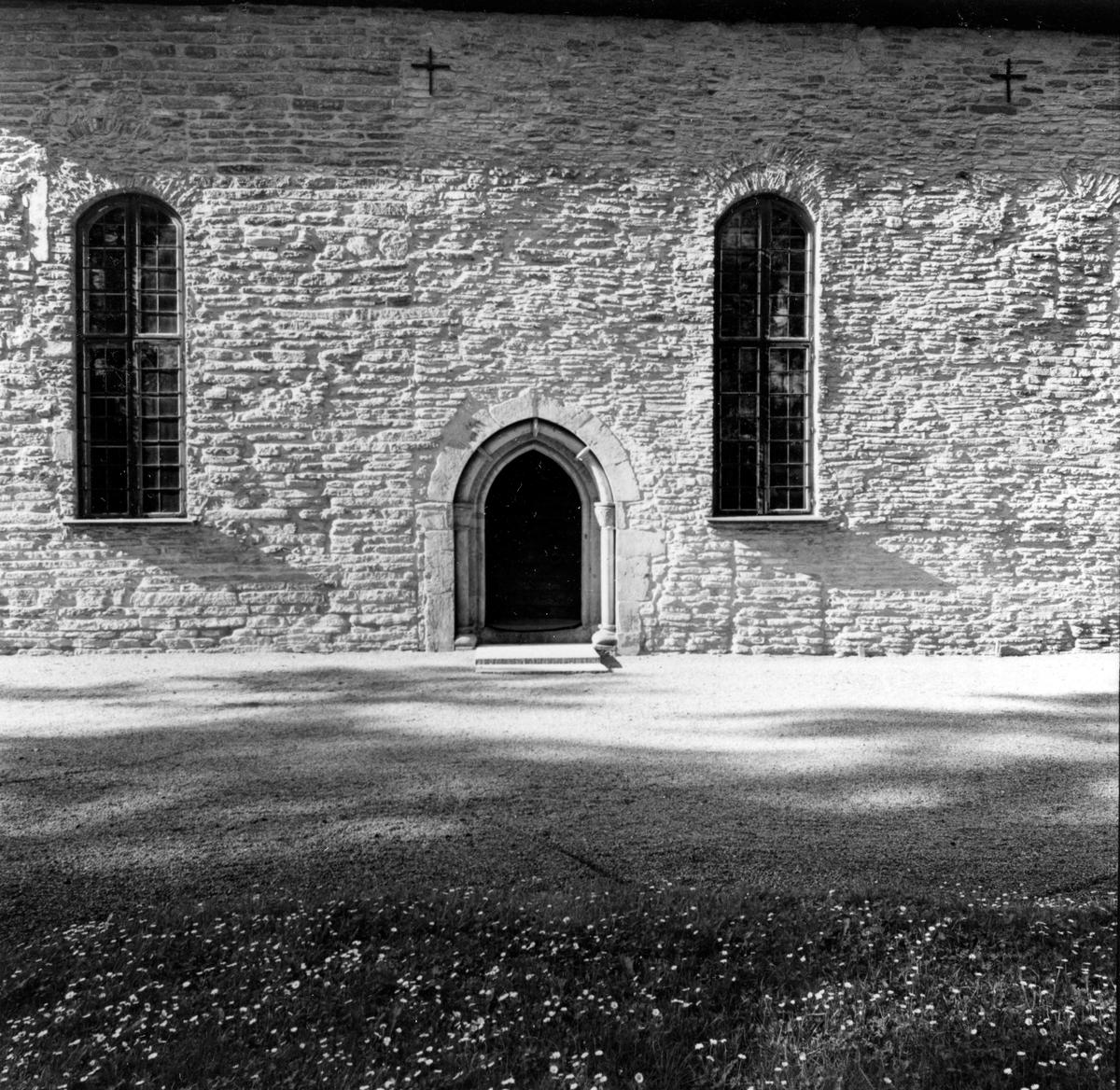 S:t Olofs kyrka, sydsidan. Från NM:s byggnadsinventering 1957.