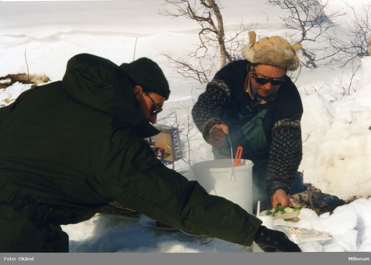 Vinterutbildning. Tärnafjällen. Matlagning.