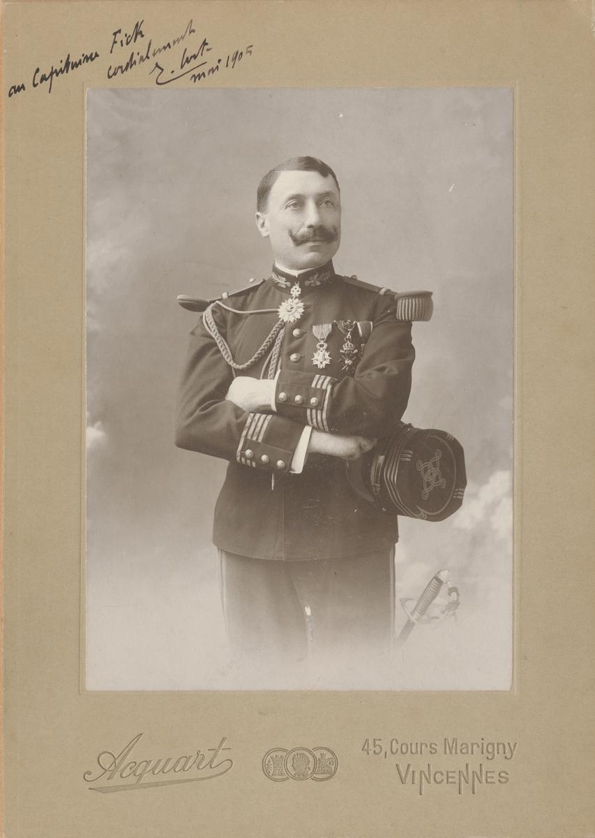 Porträtt av okänd fransk officer.