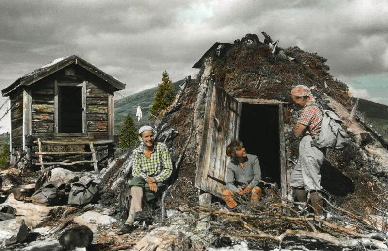 På tur i Femundsmarka. Foto: Gunnar Raabe/Gudbrandsdalsmusea. (Foto/Photo)