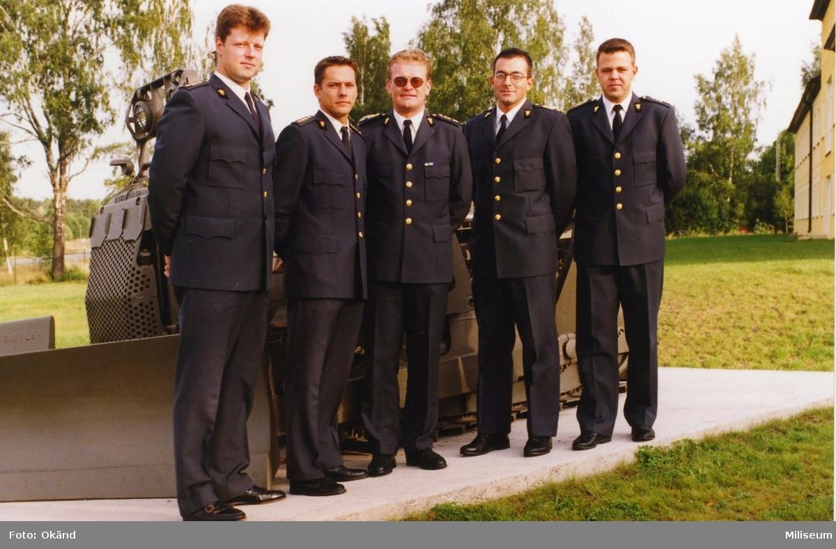 Gruppbild med bandschaktare vid Swedec. Ing 2.