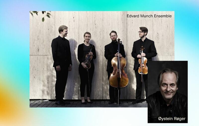 Edvard Munch Ensemble er en strykekvartett som opptrer sammen med Øystein Røger. (Foto/Photo)