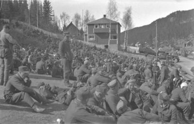 Fagernes etter overgivinga, 1. mai 1940. Foto: Johan Meyer. (Foto/Photo)