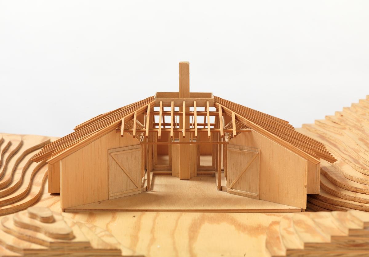 Øverås' hytte [Arkitektonisk modell]