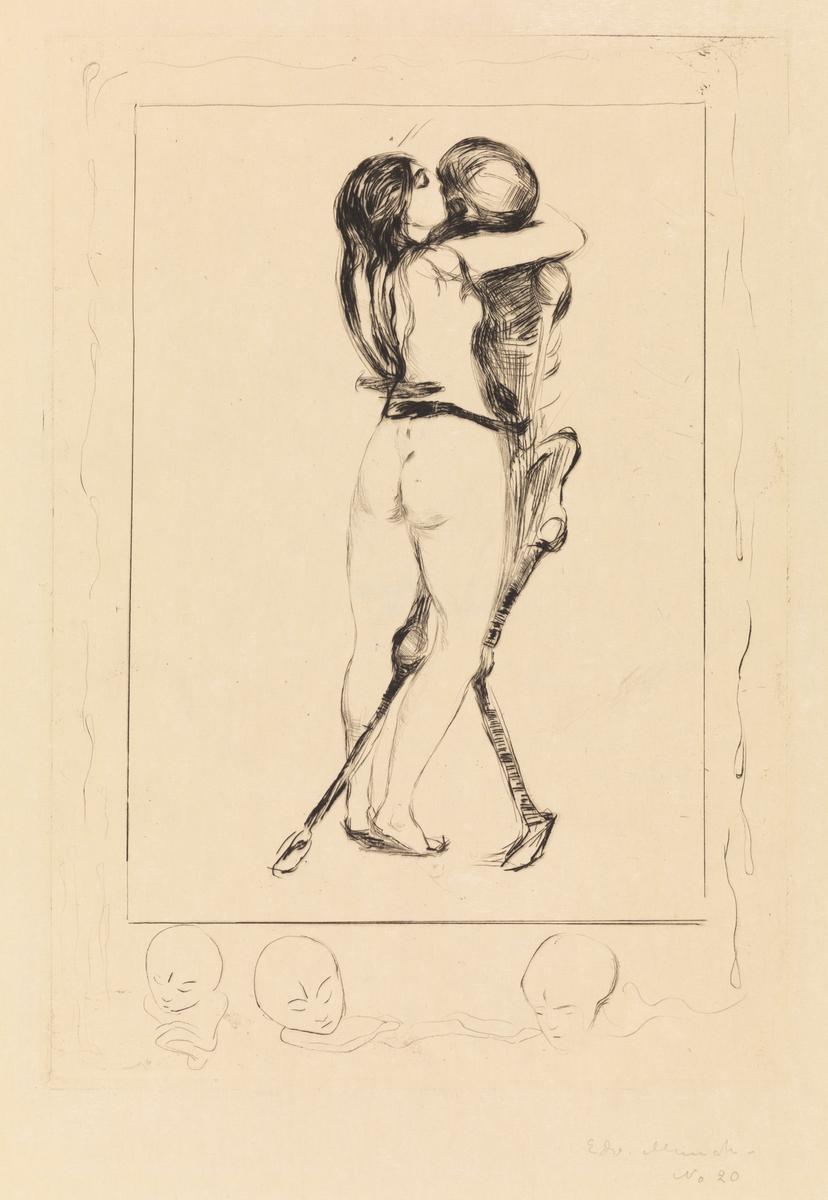 Døden og kvinnen [Grafikk]