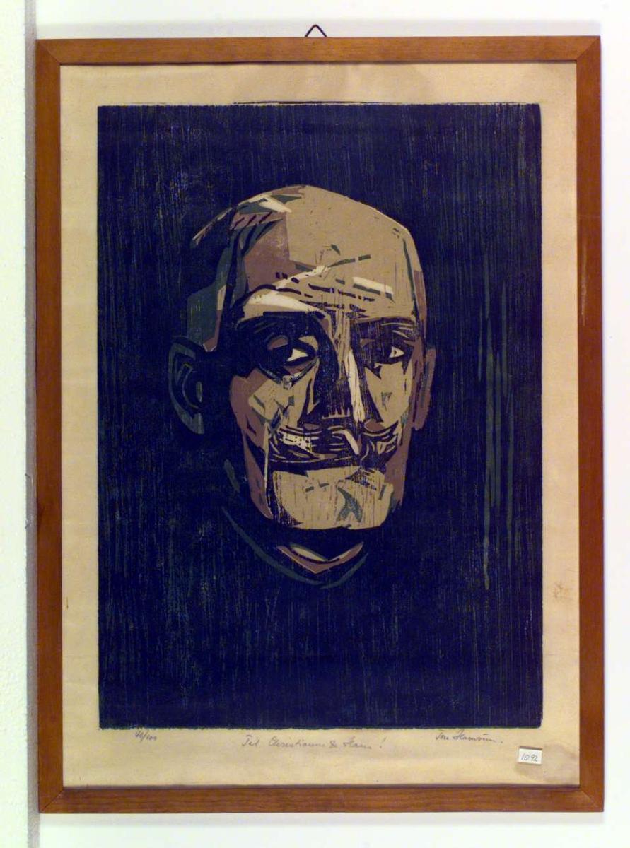 Portrett av Knut Hamsun