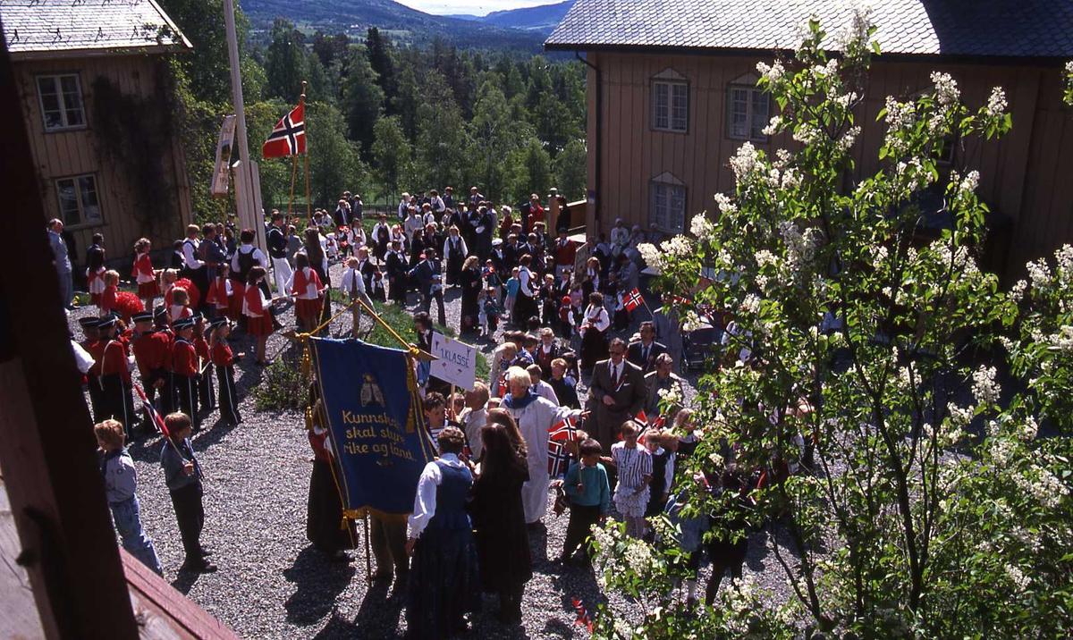 DOK:1990, 17. mai, korps, flagg, tun,