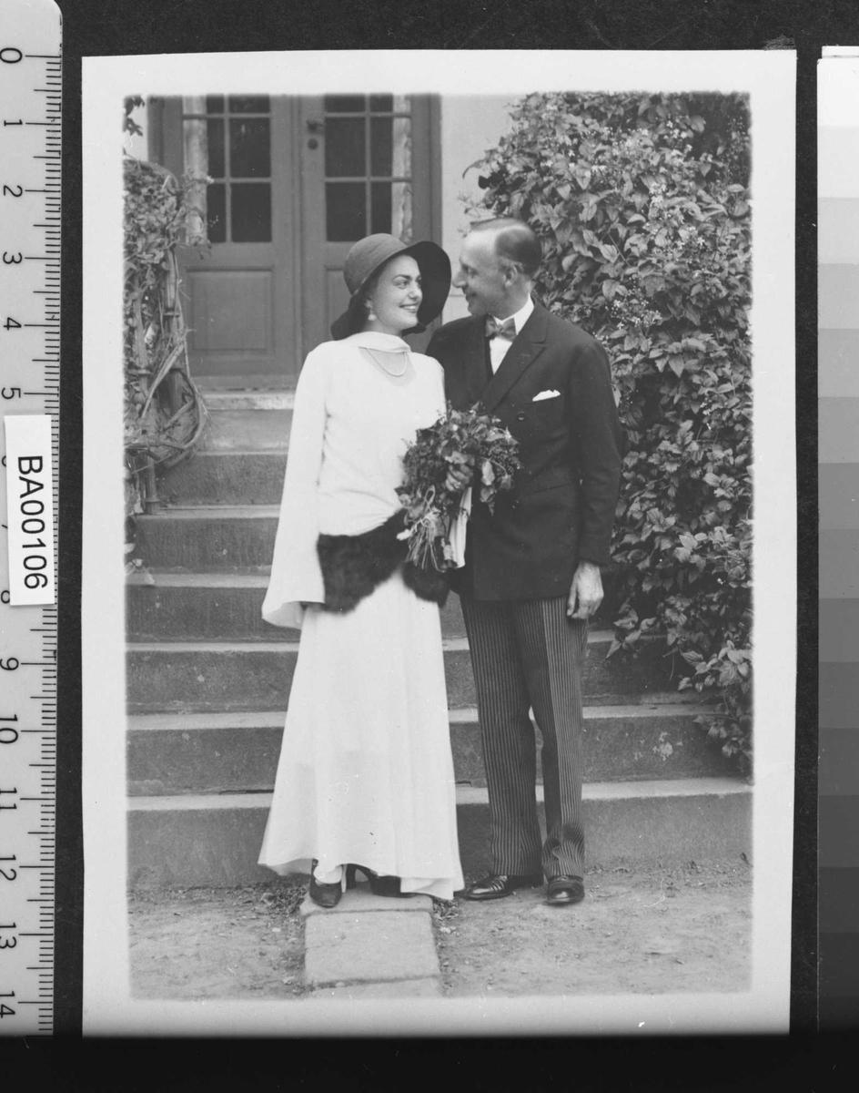 Irene Ibsen, Josias Bille, brudepar,