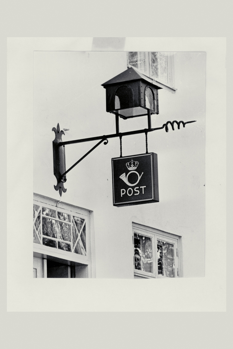 eksteriør, postkontor, 1630 Gamle Fredrikstad, postskilt