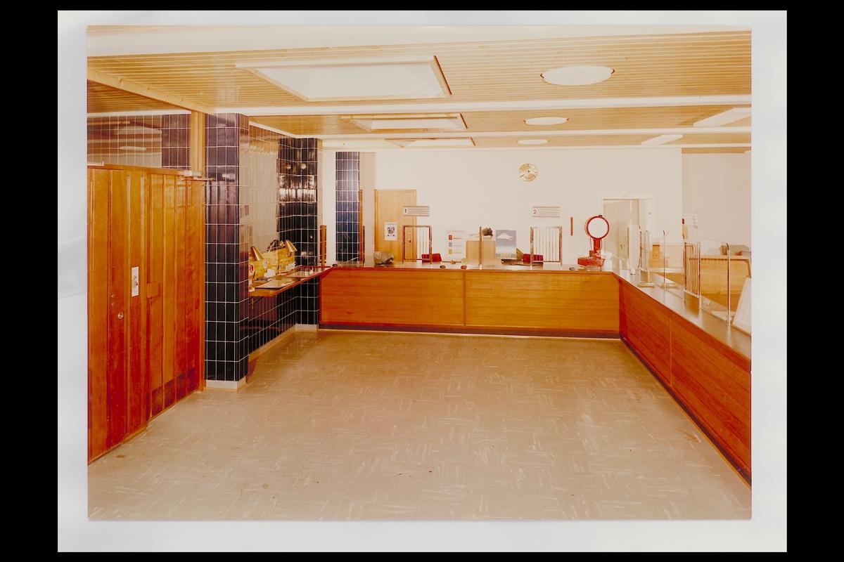 interiør, postkontor, 3600 Kongsberg, publikumshall, vekt