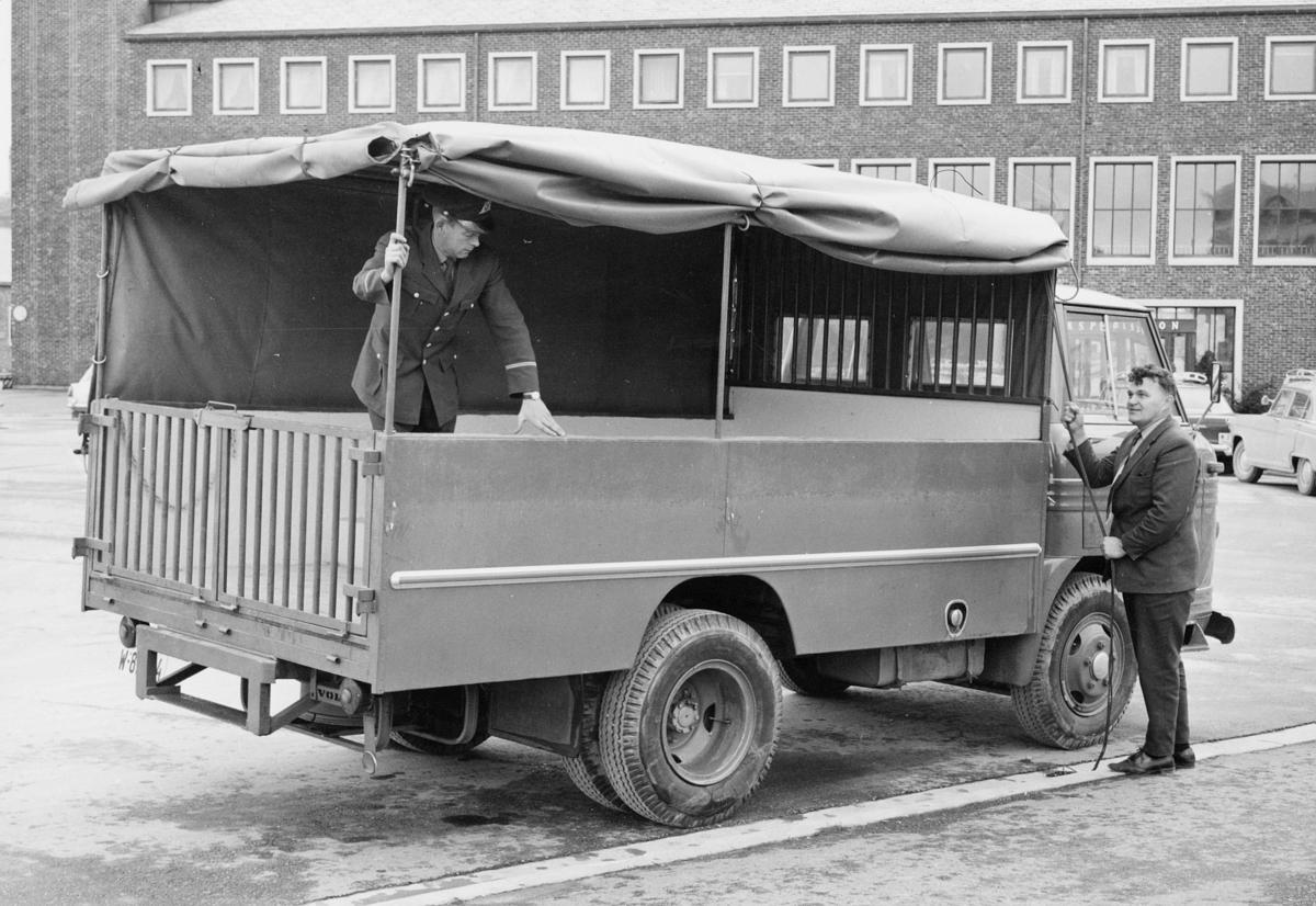 transport, bil, lastebil, kapell, to menn