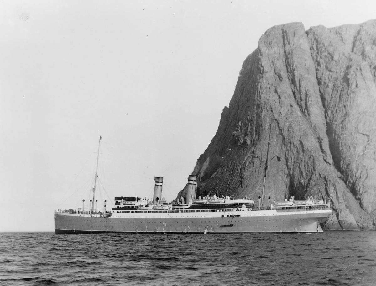 transport båt, eksteriør Nordkapp N. A. L. D.s. Bergensfjord, Oslo-New York