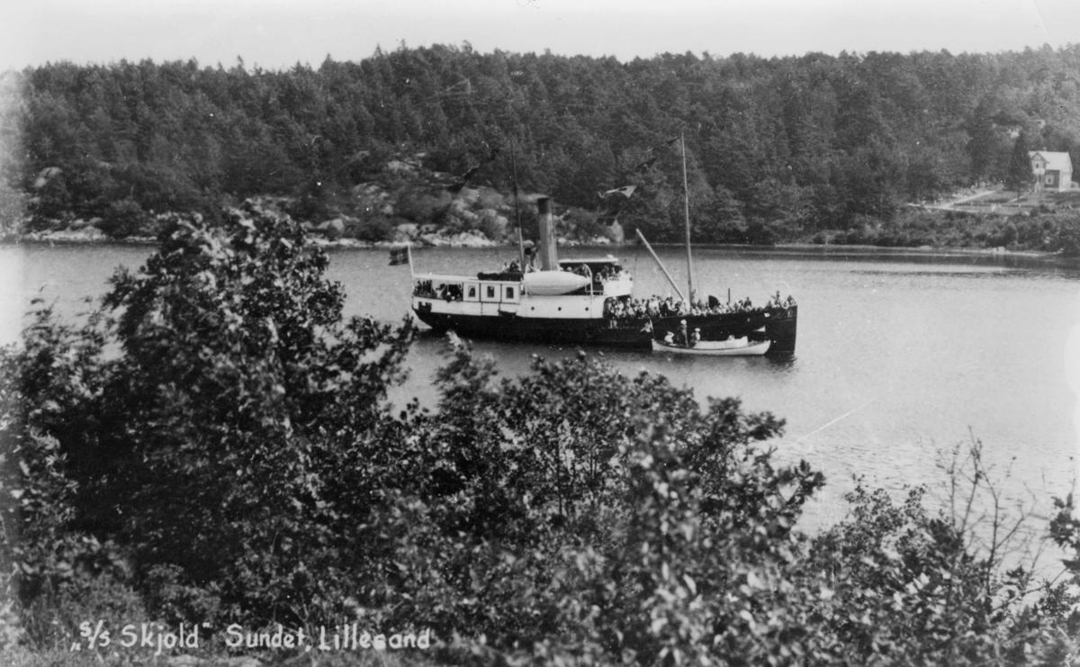 transport, båt, Sundet Lillesand, postbåten S/S Skjold