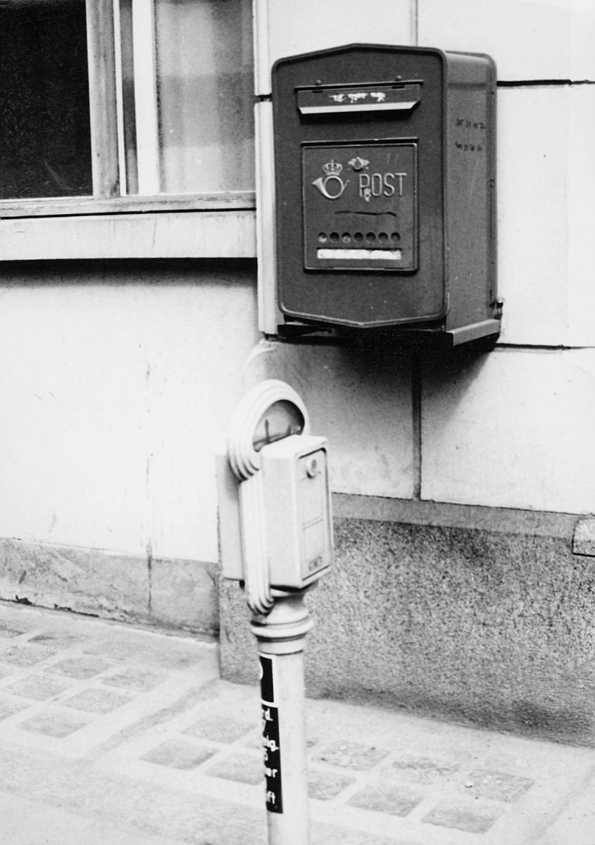 postkasser, offentlig, festet, på husvegg, tallengate, eksteriør