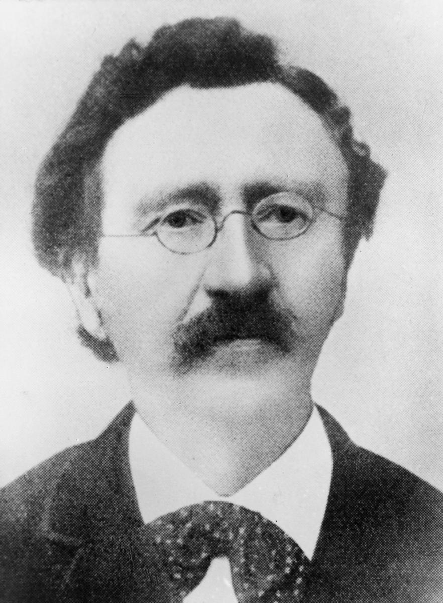 portrett, postmester, Johan Ludvig Levanger