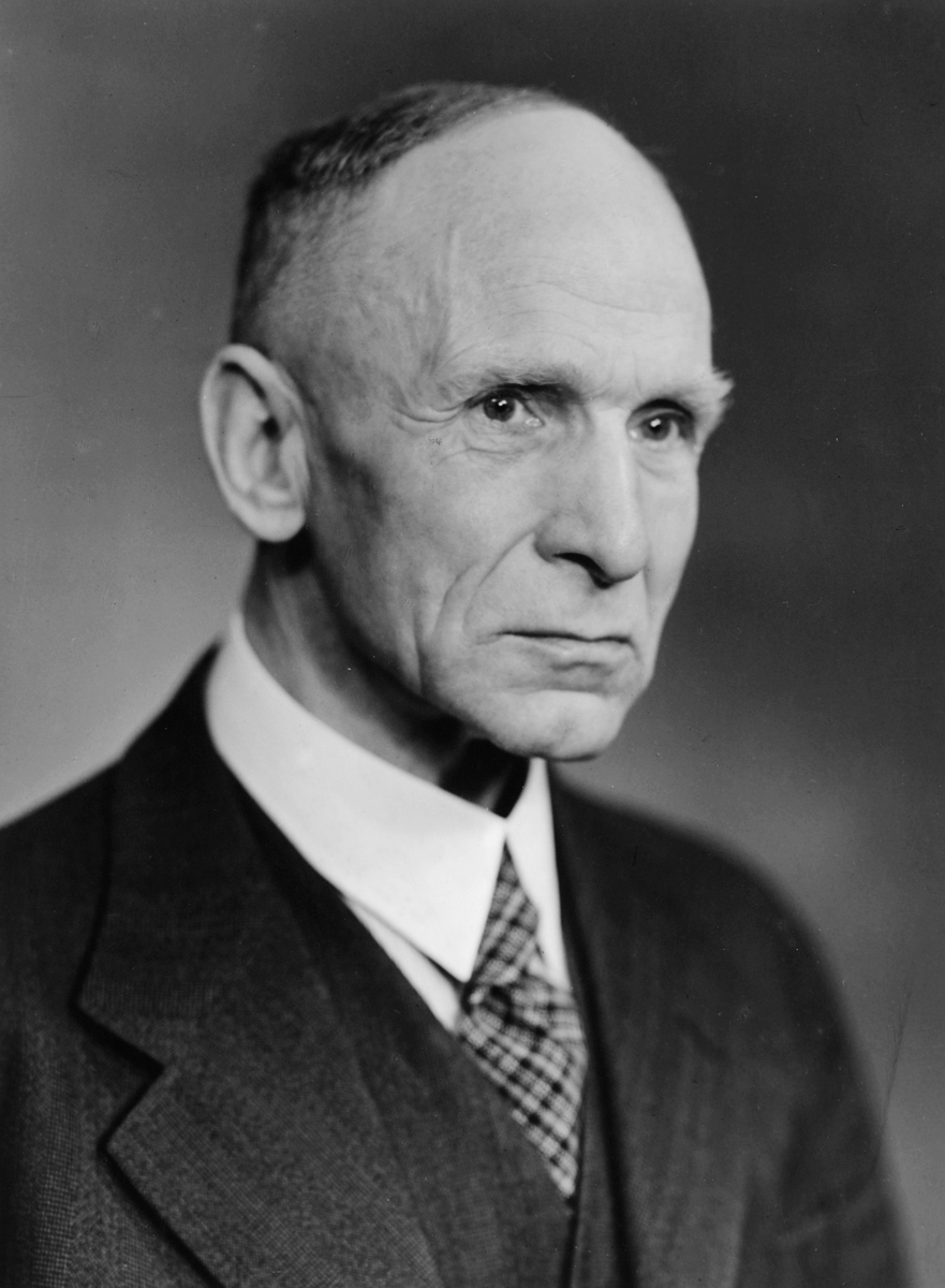 portrett, postmester, Alfred Rødland