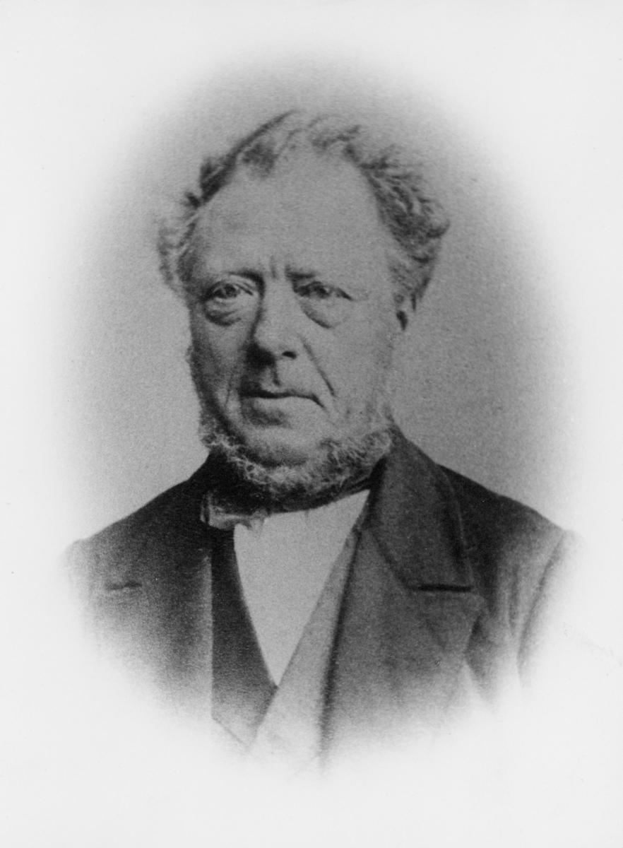 portrett, postmester, Hans Andreas Strømsøe