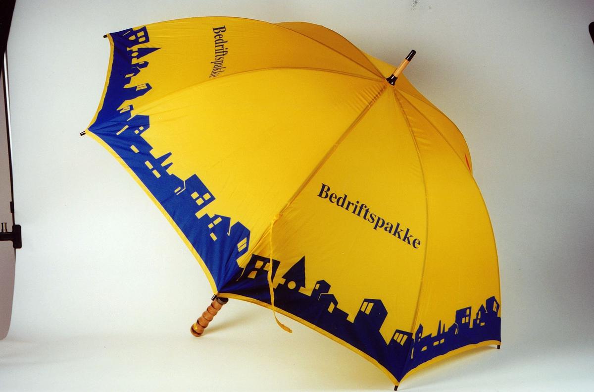 Postmuseet, gjenstander, profilartikler, paraply, reklamelartikkel fra Posten Lettgods