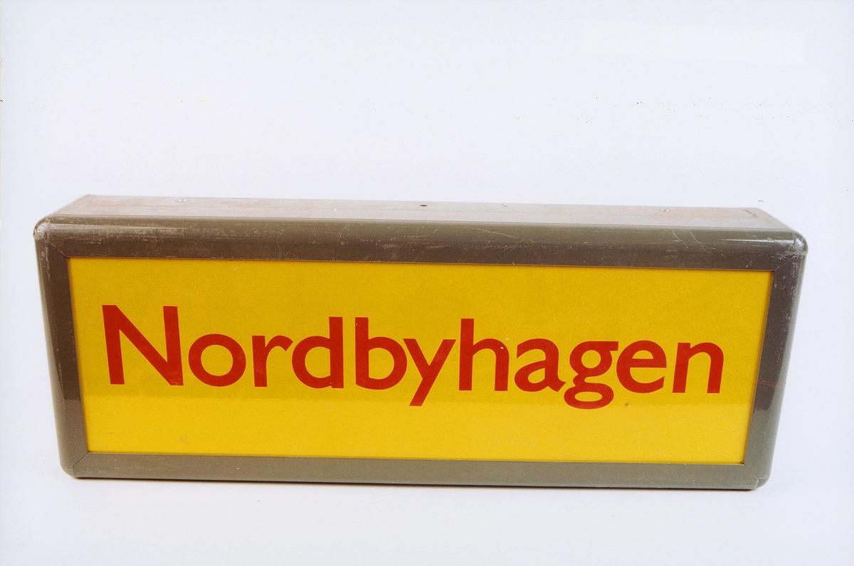 postmuseet, gjenstander, skilt, stedskilt, stedsnavn, Nordbyhagen