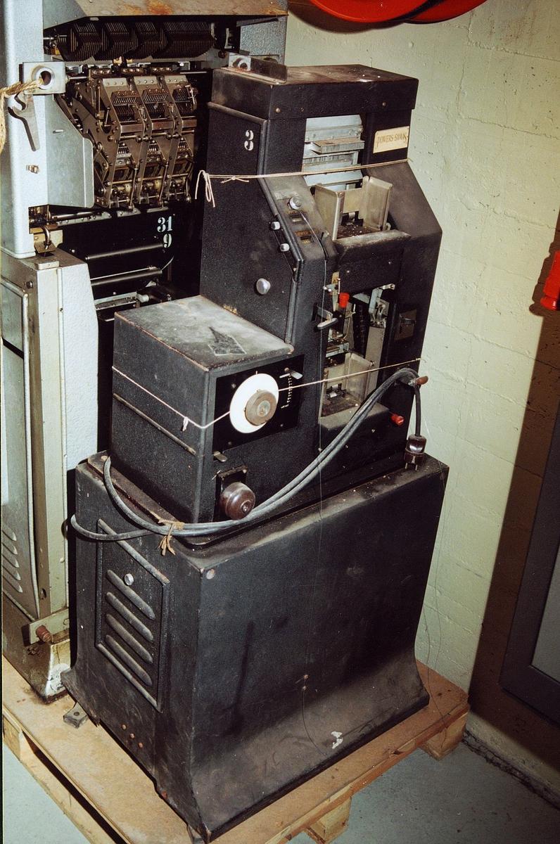 postsparebanken, postbanken, Biskop Gunnerus g. 14, maskiner, regnskapsmaskin, Powers-Samas accounting machine No 300/1092