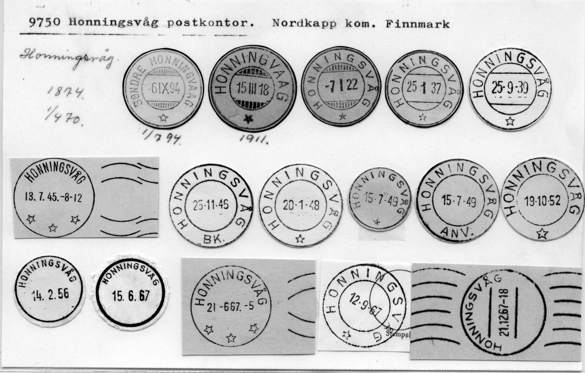 Stempelkatalog 9750 Honningsvåg (Søndre Honningvaag Honningvaag) Nordkapp, Finnmark