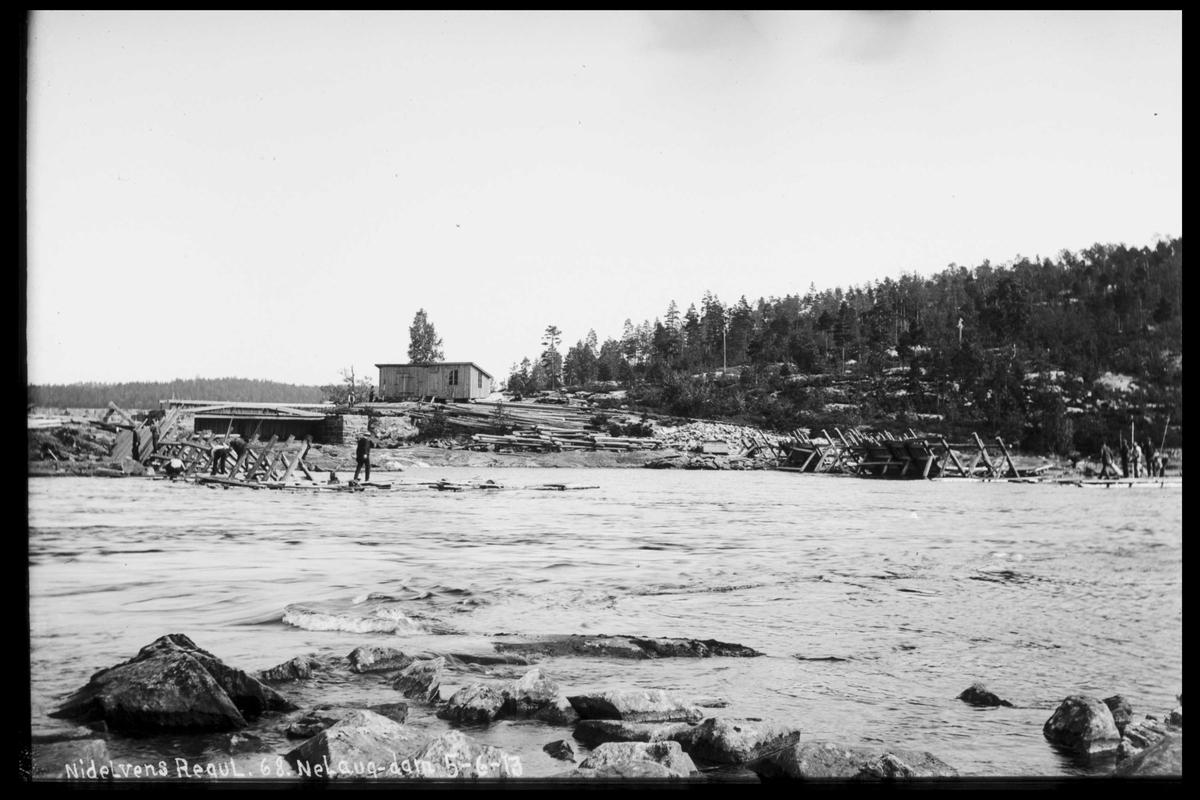 Arendal Fossekompani i begynnelsen av 1900-tallet CD merket 0474, Bilde: 84 Sted: Nelaug Beskrivelse: Damanlegget