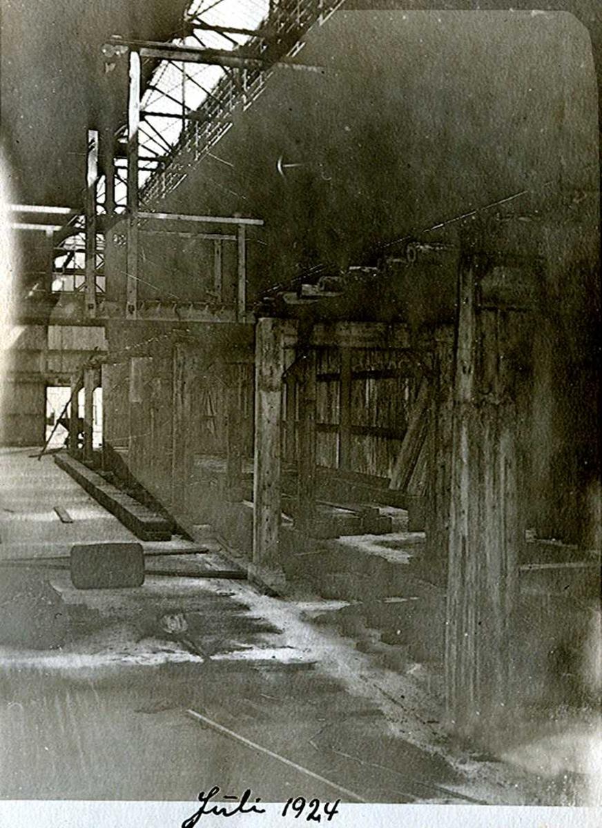 """""""xx/07-1924"""" Nitriden. Bygning for steking av elektrodekull."""