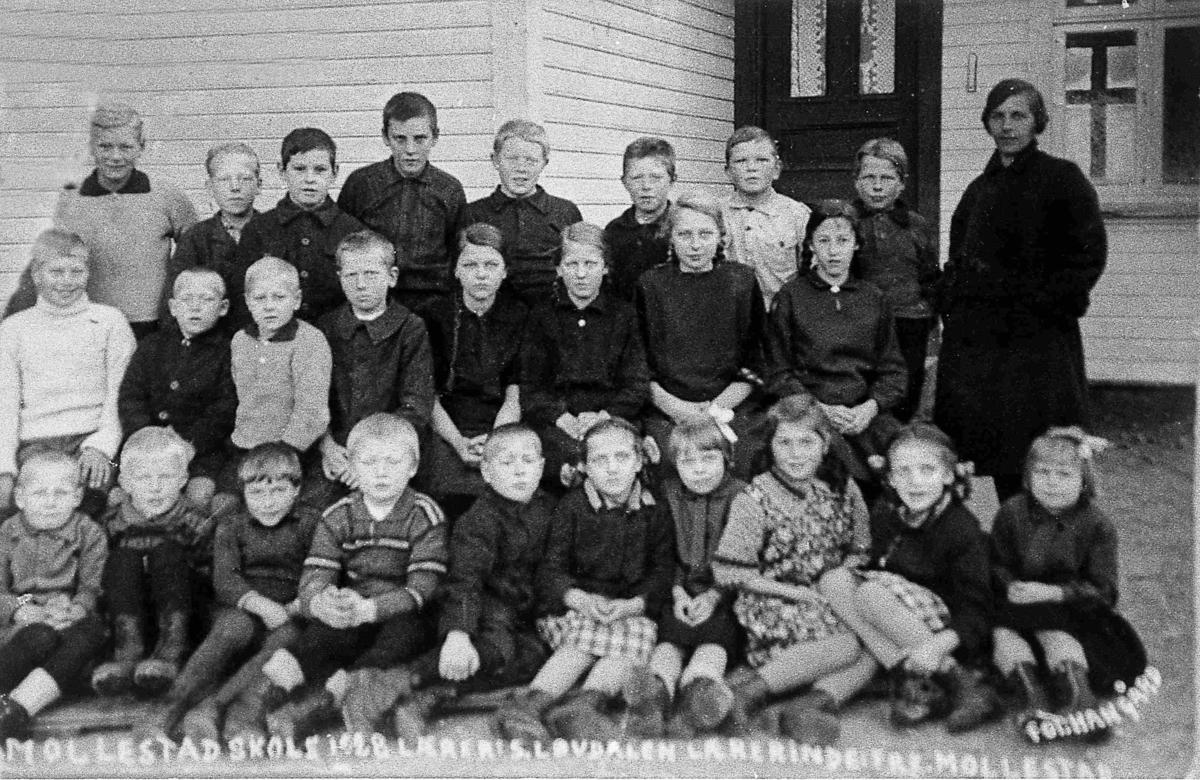 Bilder fra Birkenes kommune Mollestad skole 1928