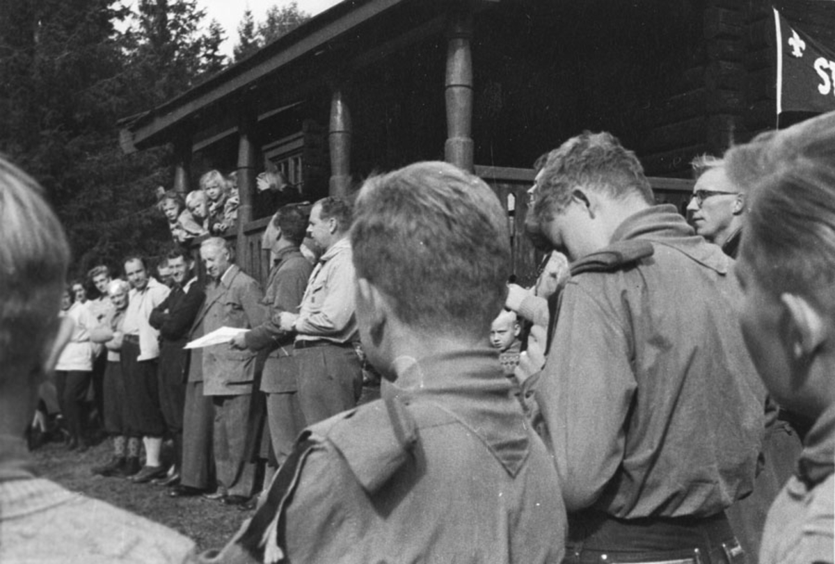 Speidere ved Sterkerudhytta ca. 1955