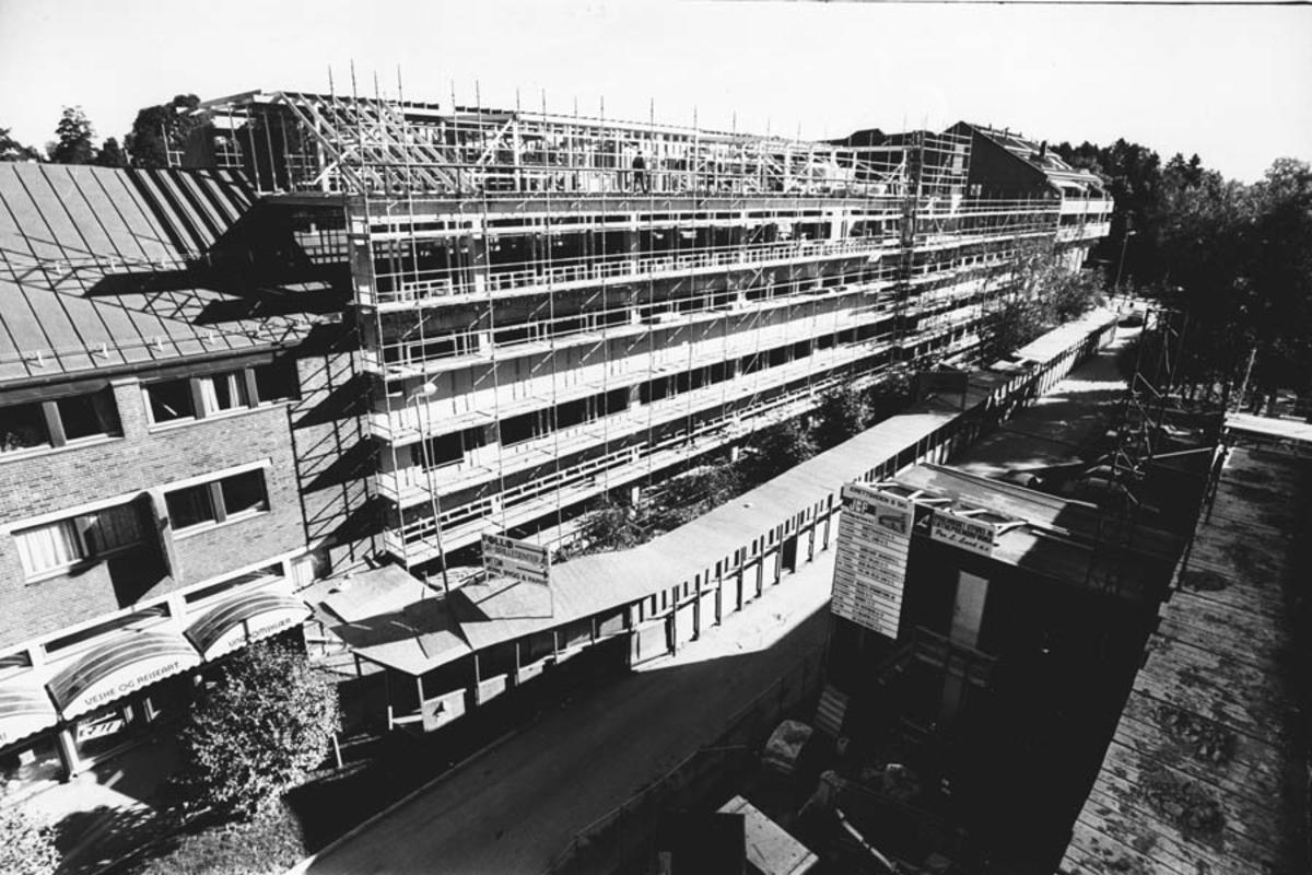 Politihuset under bygging.