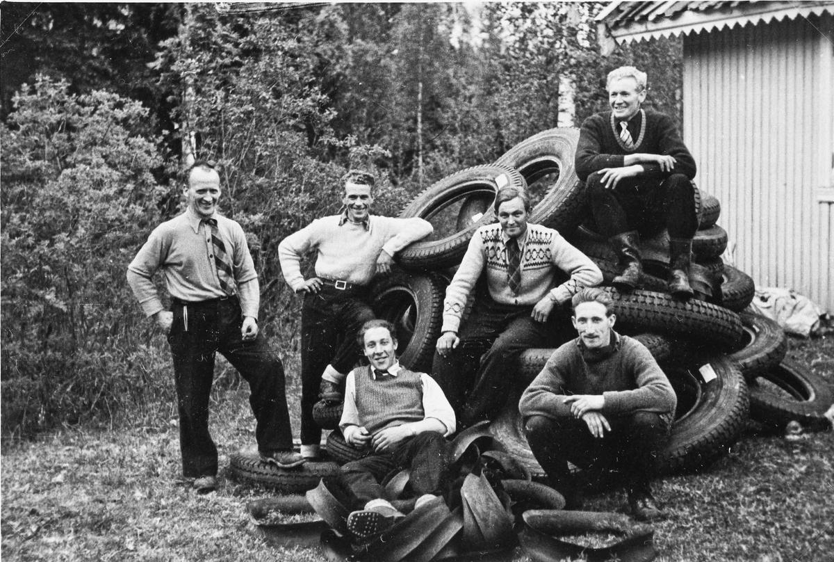Dekk som ble stjålet fra tyskerne under krigen.