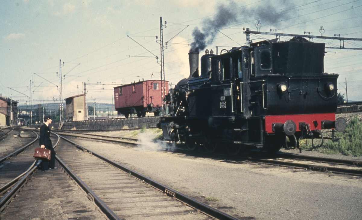 Lokomotivføreraspiranten skal ha tjeneste på skiftelokomotivet på Lillestrøm.